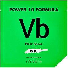 Voňavky, Parfémy, kozmetika Vysoko koncentrovaná listová maska pre problémovú pokožku - It's Skin Power 10 Formula Vb Mask Sheet