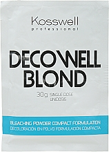 Voňavky, Parfémy, kozmetika Zosvetľujúci prášok, modrý - Kosswell Professional Decowell Blond