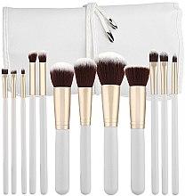 Voňavky, Parfémy, kozmetika Sada profesionálnych make-upových štetcov, biele, 12ks - Tools For Beauty