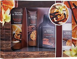 Voňavky, Parfémy, kozmetika Sada - Nature de Marseille Orange And Vanilla Cosmetics Set (sh/gel/150ml + h/cr/60ml + b/balm/100ml + soap/95g)