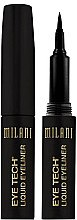 Voňavky, Parfémy, kozmetika Očné linky s plsteným hrotom - Milani Eye Tech Liquid Eye Liner