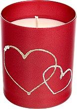 Voňavky, Parfémy, kozmetika Dekoratívna sviečka červená, 8x9,5cm - Artman Forever Glass