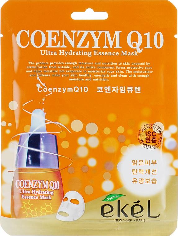 Textilná maska s koenzýmom Q10 - Ekel Coenzym Q10 Ultra Hydrating Essence Mask