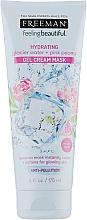 Voňavky, Parfémy, kozmetika Gélová krémová maska Ľadová voda a ružová pivonka - Freeman Feeling Beautiful Gel Cream Mask