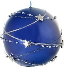 Voňavky, Parfémy, kozmetika Dekoratívna sviečka, guľa, modrá, 10 cm - Artman Christmas Garland