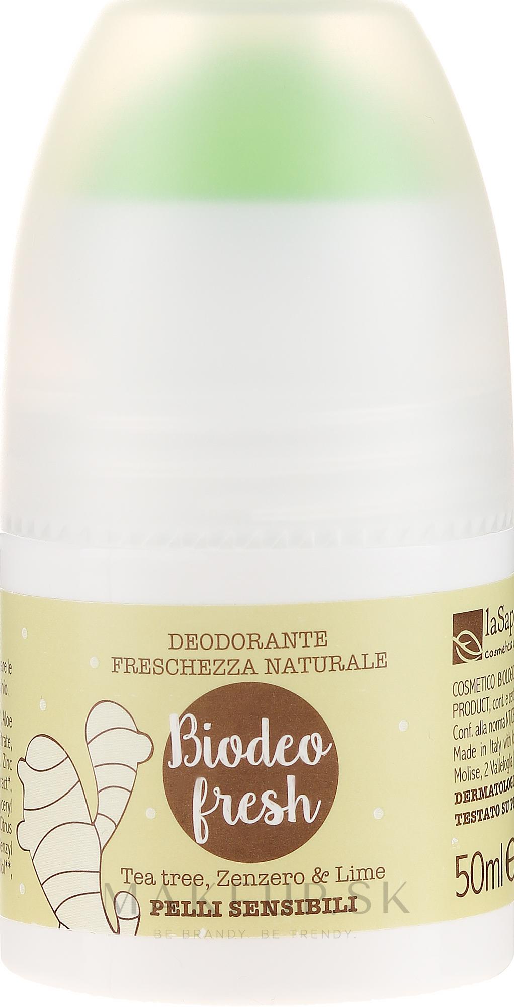 """Dezodorant """"Sviežosť"""" - La Saponaria Biodeo Fresh — Obrázky 50 ml"""