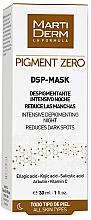 Voňavky, Parfémy, kozmetika Depigmentačná maska na tvár - MartiDerm Pigment Zero DSP-Mask Intensive Depigmenting Night