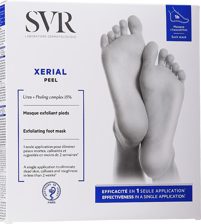 Peelingová maska na nohy - SVR Xerial Peel Exfoliating Foot Mask