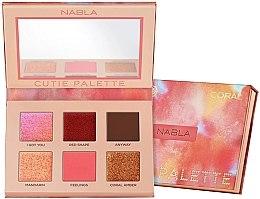 Voňavky, Parfémy, kozmetika Paleta očných tieňov - Nabla Cutie Collection Palette Coral