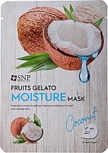 Voňavky, Parfémy, kozmetika Hydratačná pleťová maska - SNP Fruits Gelato Moisture Mask Coconut