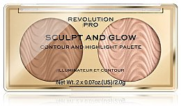 Voňavky, Parfémy, kozmetika Kontúrovacia paleta pre tvár - Makeup Revolution Pro Sculpt And Glow
