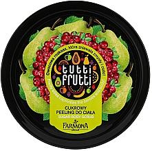 """Voňavky, Parfémy, kozmetika Cukrový peeling pre telo """"Hruška a brusnica"""" - Farmona Tutti Frutti Sugar Scrub"""