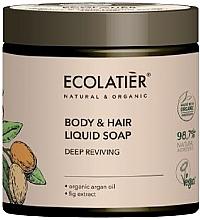 """Voňavky, Parfémy, kozmetika Mydlo na telo a vlasy """"Hĺbková regenerácia"""" - Ecolatier Organic Aragan Body & Hair Liquid Soap"""