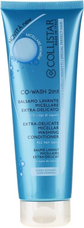 Čistiaci micelárny kondicionér pre všetky typy vlasov - Collistar Co-Wash 2in1 Extra Delicate Micellar Washing Conditioner — Obrázky N1