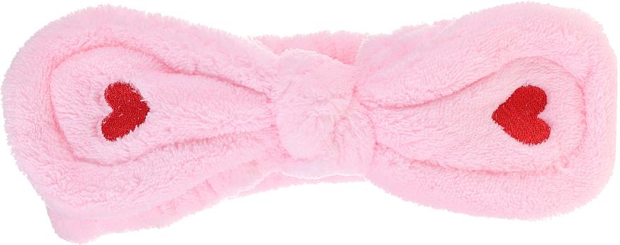 Kozmetická čelenka do vlasov, ružová - Lash Brow Cosmetic SPA Band