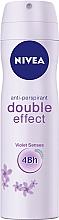 """Voňavky, Parfémy, kozmetika Deodorant sprej antiperspirant """"Dvojitý efekt"""" - Nivea Double Effect Deodorant Spray"""
