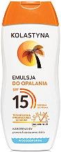 Voňavky, Parfémy, kozmetika Emulzie pre opaľovanie - Kolastyna Emulsion SPF 15