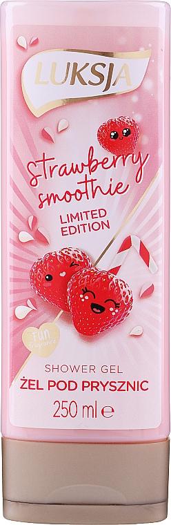 """Krémový sprchový gél """"Jahodové smoothie"""" - Luksja Coconut Strawberry Smoothie Shower Gel"""