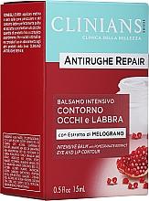 Voňavky, Parfémy, kozmetika Krémový balzam proti prvým vráskam na očných viečkach a perách s extraktom z granátového jablka - Clinians Antirughe Quotidiana