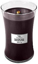 Voňavky, Parfémy, kozmetika Vonná sviečka v pohári - WoodWick Hourglass Candle Black Plum Cognac