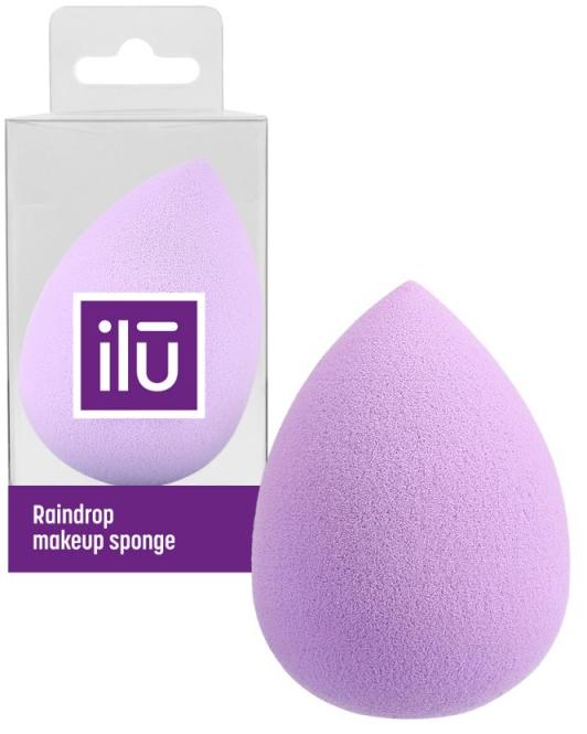 Špongia na líčenie, fialová - Ilu Sponge Raindrop Purple