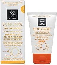 Voňavky, Parfémy, kozmetika Tonovací krém na tvár s ľahkou textúrou SPF 30 - Apivita Suncare Oil Balance Light Texture Tinted Face Cream SPF30