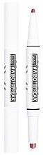 Voňavky, Parfémy, kozmetika Rúž a ceruzka na pery 2 v 1 so saténovým finišom - Wibo FitFreak Sweat Proof Duo Lips (1 ks)