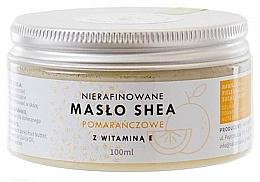 Voňavky, Parfémy, kozmetika Bambucké maslo s vitamínom E, nerafinované - Natur Planet Orange Shea Butter Unrefined & Vitamin E