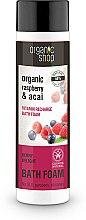 """Voňavky, Parfémy, kozmetika Pena do kúpeľa """"Vitamínový náboj. Jahodové potešenie"""" - Organic Shop Organic Acai and Raspberry Berry Bath Foam"""