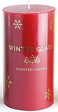Voňavky, Parfémy, kozmetika Vonná sviečka, červená, 9x13cm - Artman Winter Glass