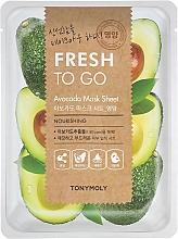 Voňavky, Parfémy, kozmetika Textilná maska s extraktom z avokáda - Tony Moly Fresh To Go Avocado Mask Sheet Nourishing