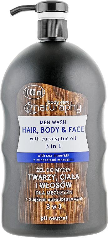 Gél-šampón na telo a vlasy s eukalyptovým olejom pre mužov - Bluxcosmetics Naturaphy Men