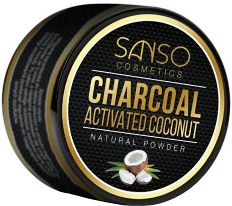 Prírodný bieliaci zubný prášok - Sanso Cosmetics Charcoal Activated Coconut Natural Powder