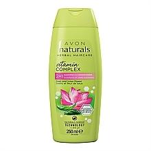 """Voňavky, Parfémy, kozmetika Šampón-oplachovanie 2 v 1 """"Lotosový kvet a bazalka"""" - Avon Naturals Hair Care Shampoo"""
