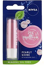 """Voňavky, Parfémy, kozmetika Balzam na pery """"Perlový lesk"""" - Nivea Lip Care Pearl & Shine Limited Edition"""