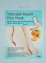 """Voňavky, Parfémy, kozmetika Intenzívne regeneračná maska-ponožky na nohy """"Marhuľa"""" - Skinlite Intensive Repair Foot Mask"""