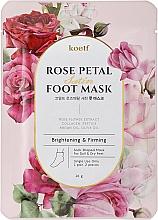 Voňavky, Parfémy, kozmetika Spevňujúca maska na nohy vo forme ponožiek - Petitfee&Koelf Rose Petal Satin Foot Mask