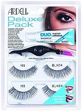 Voňavky, Parfémy, kozmetika Sada falošných rias - Ardell Eyelash 105 Deluxe Kit Black