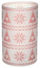 Voňavky, Parfémy, kozmetika Svietnik na sviečku - Yankee Candle Red Nordic Frosted Glass Jar Sleeve