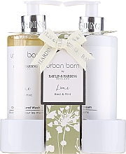 Voňavky, Parfémy, kozmetika Sada - Baylis & Harding Urban Barn Lime Basil & Mint (h/wash/300ml + h/cr/300ml)