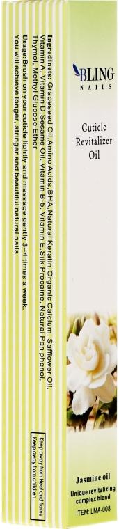 """Olej na kutikulu """"Jazmín"""" - Bling Nails Cuticle Revitalizer Oil Jasmine Oil"""