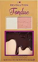 Voňavky, Parfémy, kozmetika Paleta rozjasňovačov - I Heart Makeup Revolution Highlighter Palette Chocolate Fondue