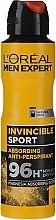 Voňavky, Parfémy, kozmetika Pánsky dezodoračný antiperspirant - L'Oreal Men Expert Invincible Sport Deodorant 96H