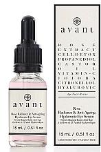 """Voňavky, Parfémy, kozmetika Protistarnúce hyalurónové sérum na oči """"Žiarivosť ruže"""" - Avant Rose Radiance & Anti-ageing Hyaluronic Eye Serum"""