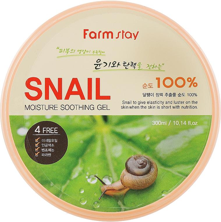 Gél so slimačím mucínom - FarmStay Moisture Soothing Gel Snail
