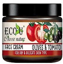 """Voňavky, Parfémy, kozmetika Krém na tvár """"Paradajky a olivy"""" - Eco U Face Cream"""