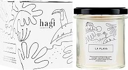 "Voňavky, Parfémy, kozmetika Sójová sviečka ""Pláž"" - Hagi Soy Candle La Playa"