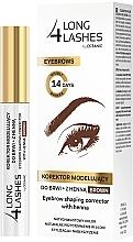 Voňavky, Parfémy, kozmetika Korektor na obočie s farbiacim účinkom - Long4Lashes Eyebrow Shaping Corrector with Henna