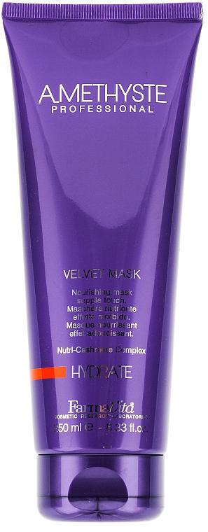 Maska na suché a oslabené vlasy - Farmavita Amethyste Hydrate Velvet Mask