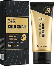 Voňavky, Parfémy, kozmetika Zlupovacia maska s 24-karátovým zlatom a slimačím mucínom - FarmStay 24K Gold Snail Peel Off Pack